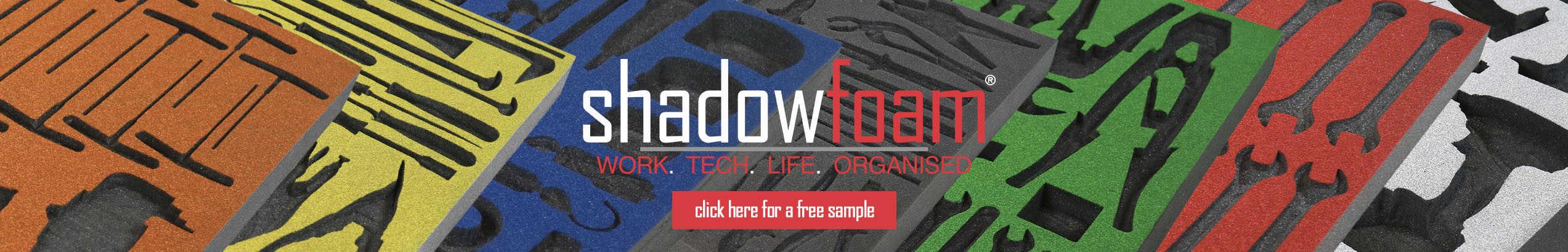 Shadow Foam website banner