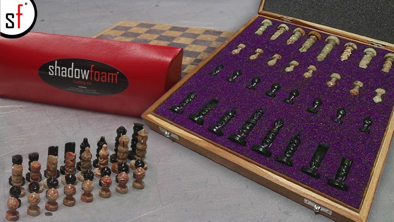 Chesspieces in Purple Foam