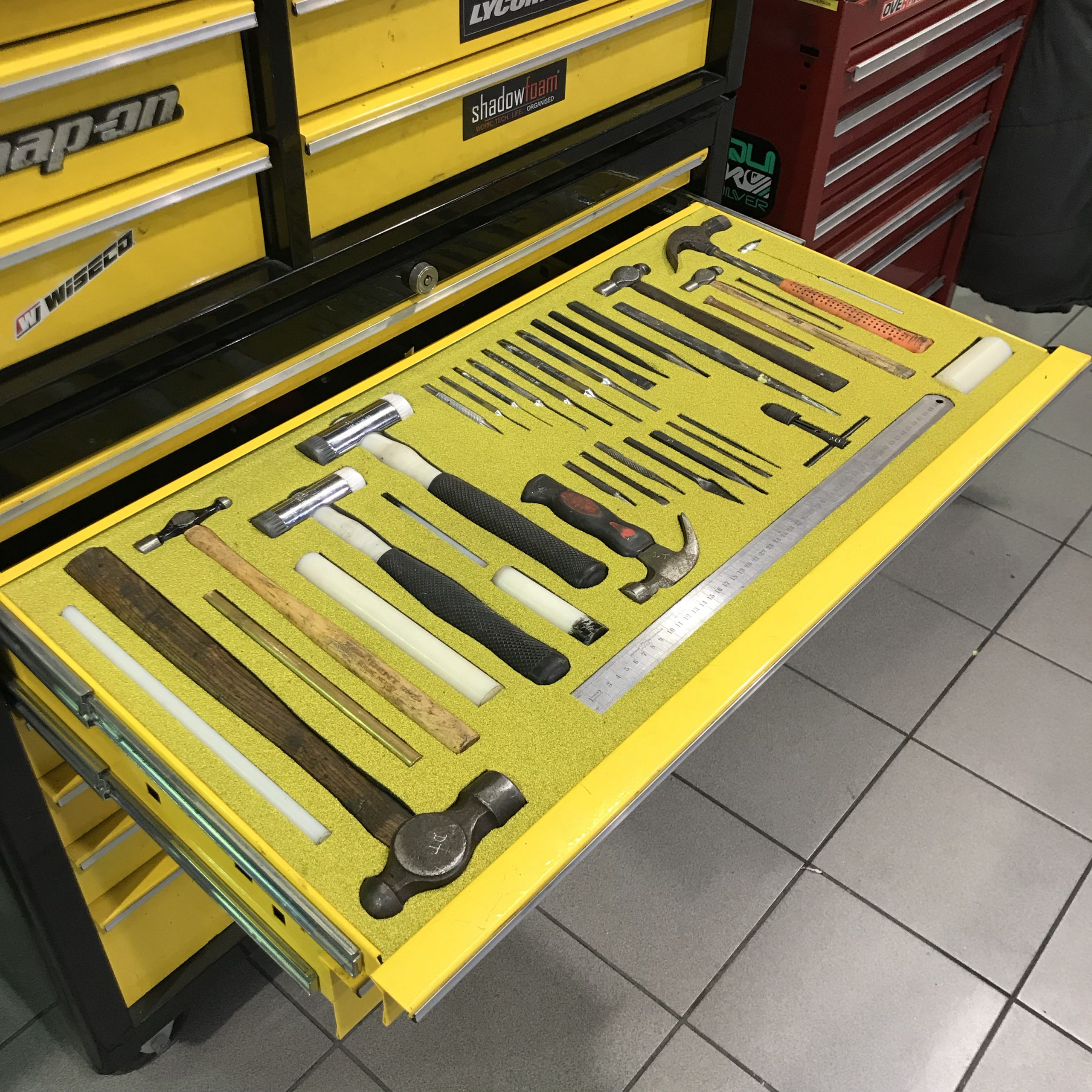 Tools in Yellow Shadow Foam