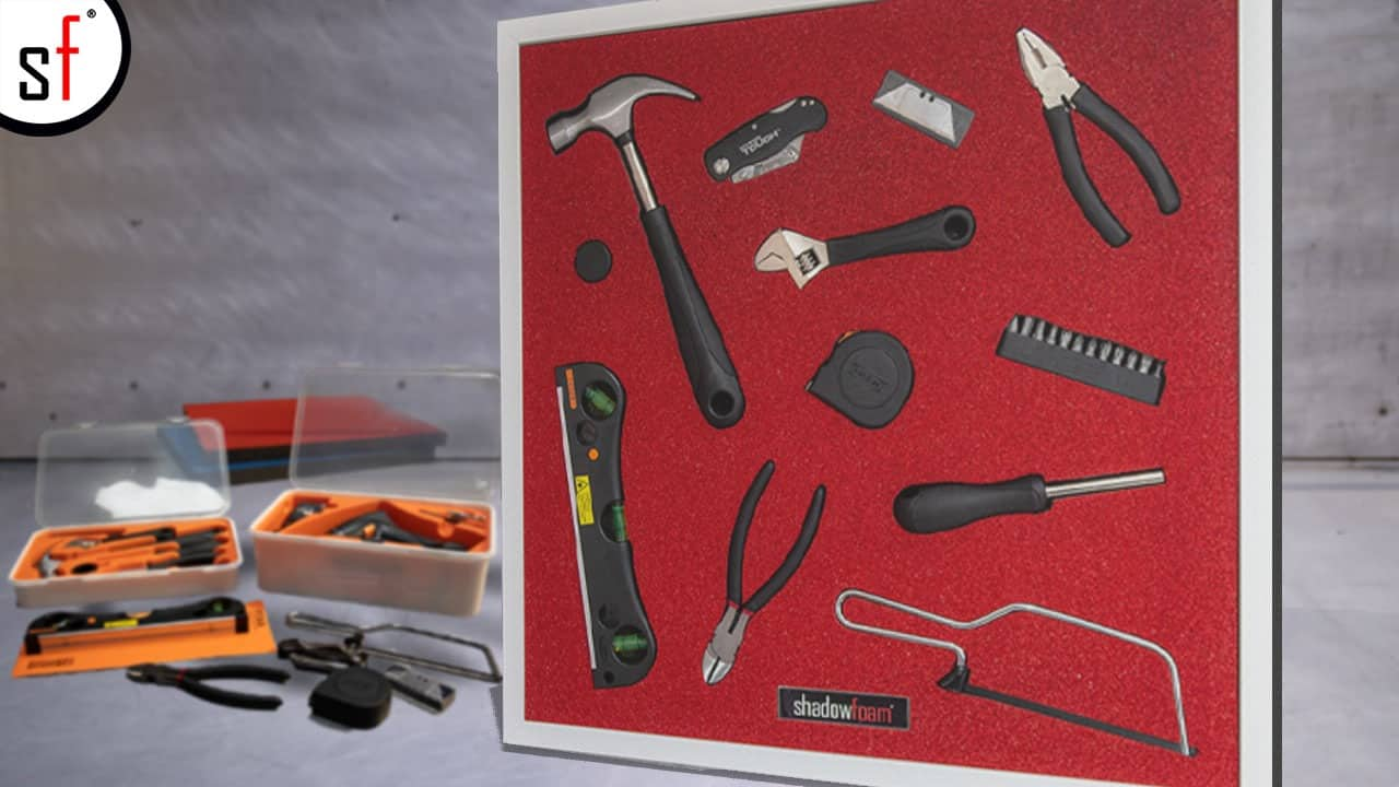 Tools in Red Shadow Foam
