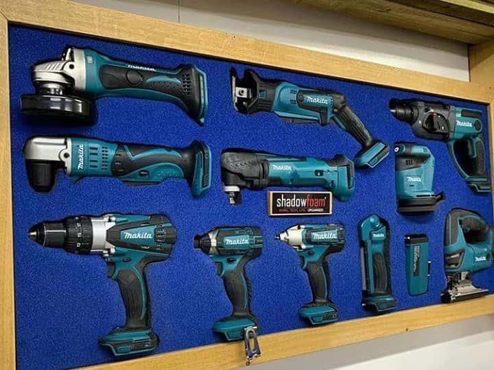 Makita Power Tool Wall in Blue Shadow Foam Original