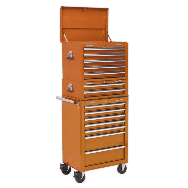 Sealey Orange 14 Drawer Rollcab Combination