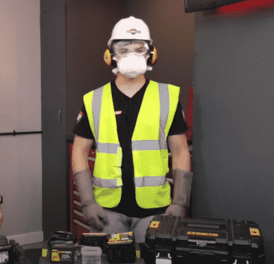 Our apprentice Dylan fully kitted out in ppe for cutting Shadow Foam when in reality all he needed was a pair of cutting gloves!